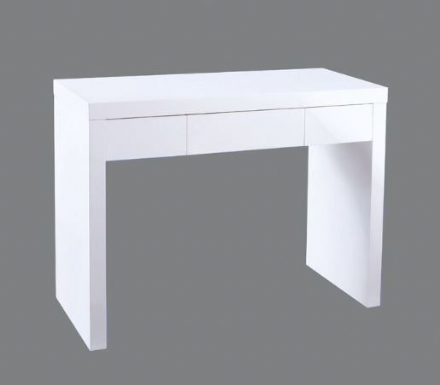 Puro Double Dressing Table Desk - White